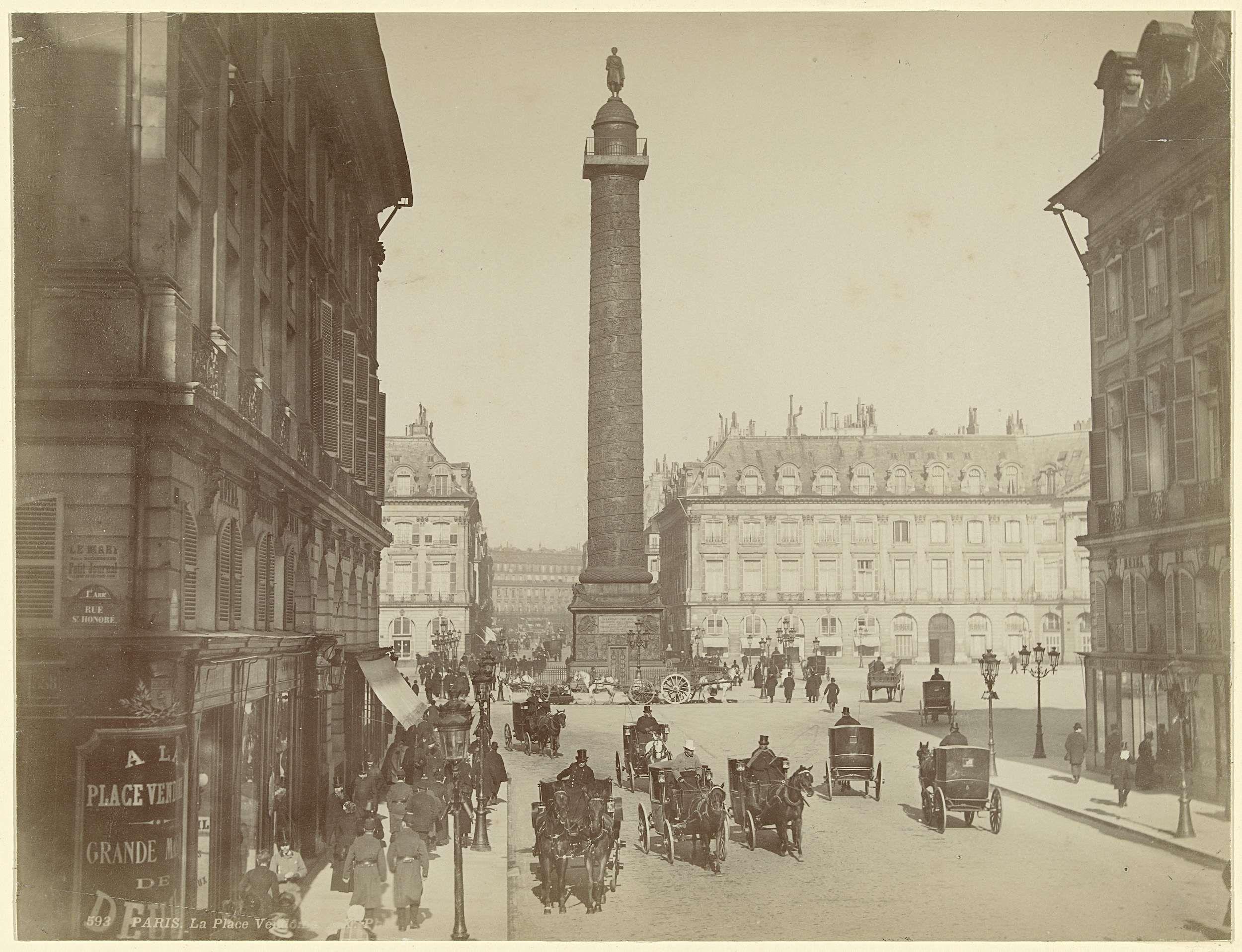 Place Vendôme met de Colonne Vendôme te Parijs, X, 1880 - 1889