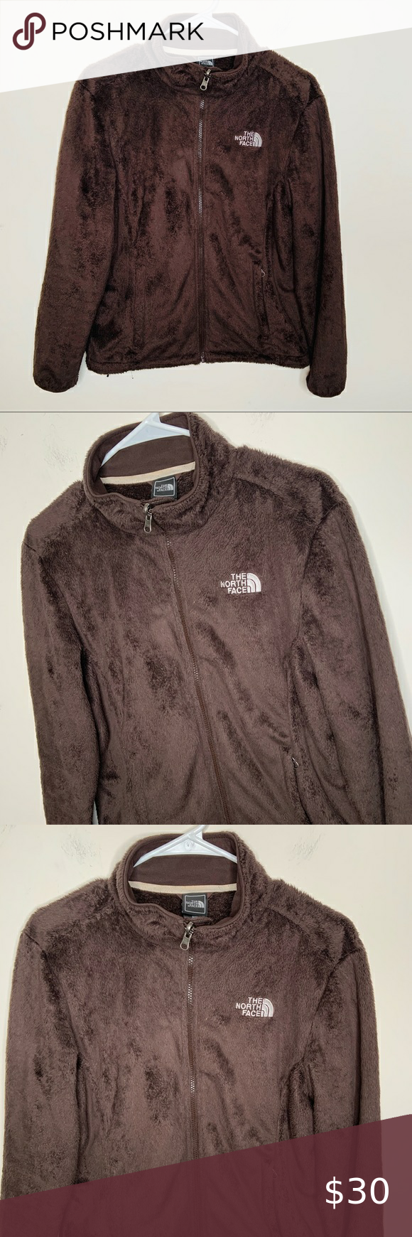 The North Face Brown Full Zipper Fuzzy Jacket M Fuzzy Jacket Jackets The North Face [ 1740 x 580 Pixel ]