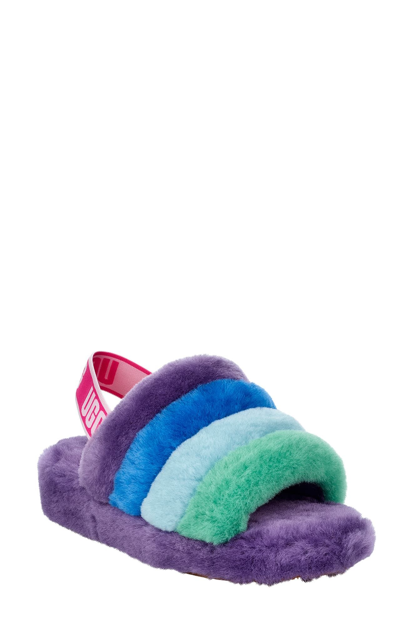 4c56db20e52 Women's Ugg Fluff Yeah Genuine Shearling Slide Slipper, Size 5 M ...