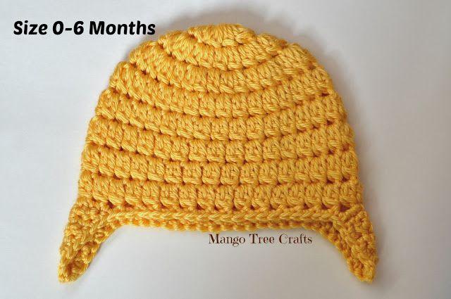 Mango Tree Crafts Basic Crochet Ear Flap Hat Pattern In 7 Sizes