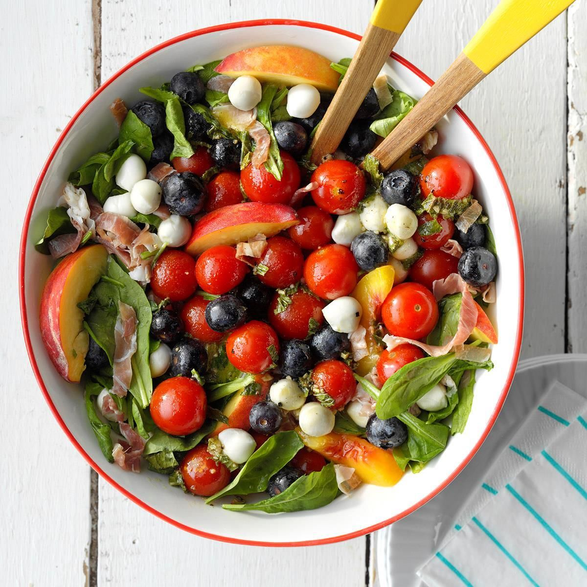 Red White And Blue Summer Salad Recipe Summer Salads Recipes Delicious Salads [ 1200 x 1200 Pixel ]