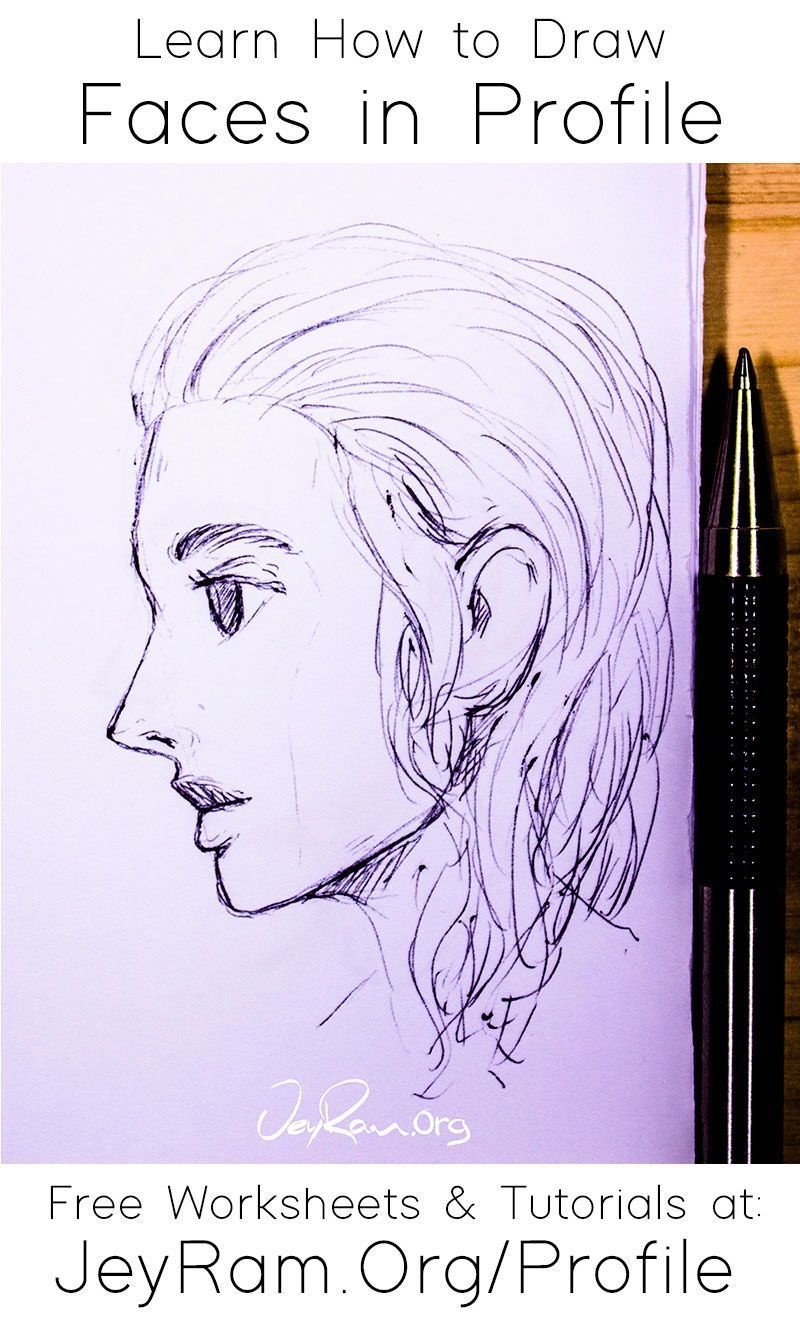 How To Draw Faces Side View Free Worksheet Tutorial Jeyram Art In 2020 Face Drawing Drawing Tutorial Drawings