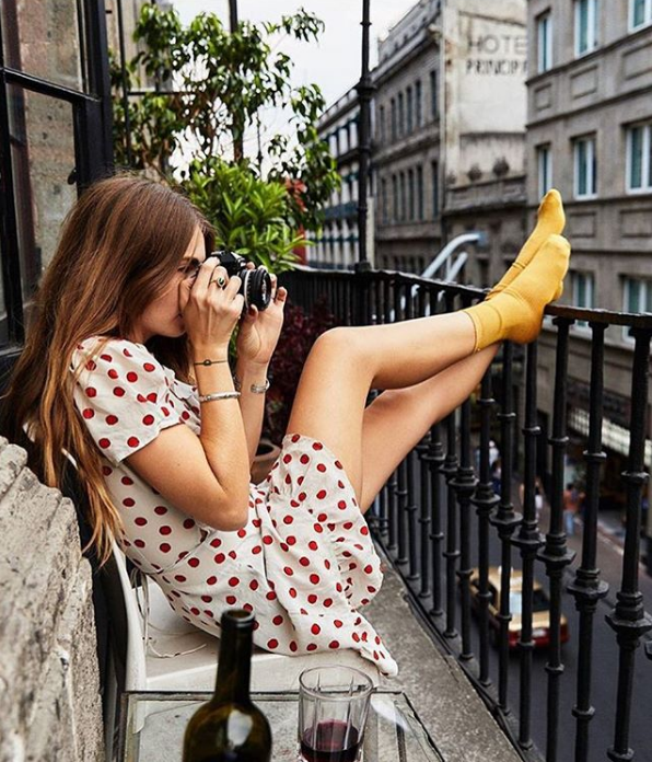 41 Ways to Style Your Réalisation Par Dresses #summerwardrobe travel style, polka dots, dress, realisation par, socks, jewellery, summer wardrobe, accessories, sunglasses, french girl style, Parisian chic, Parisian style outfit inspiration, street style, outfit ideas, style icon, style inspiration, fashion trend, fashion editor style, work wear, everyday outfit ideas,