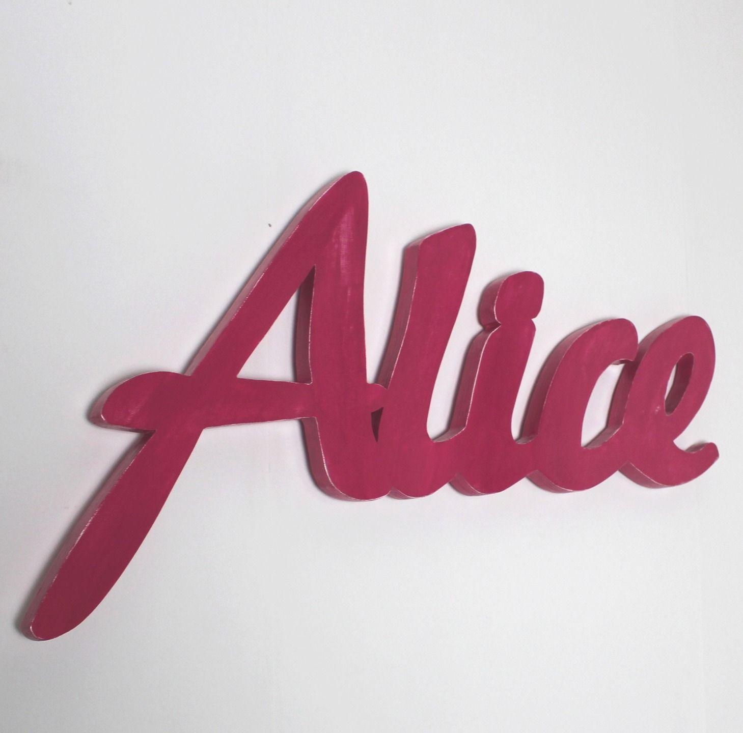 Decoration Murale Prenom Alice