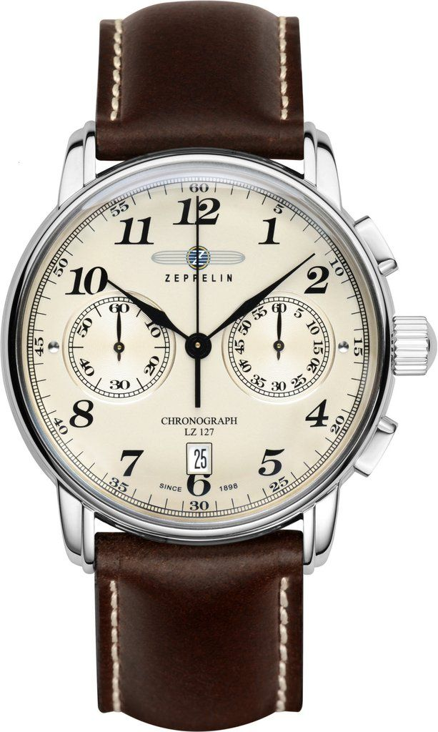 Zeppelin Watch Count Zeppelin #bezel-fixed #bracelet-strap-leather #brand-zeppelin #case-material-steel #case-width-42mm #chronograph-yes #classic #date-yes #delivery-timescale-1-2-weeks #dial-colour-cream #gender-mens #movement-quartz-battery #official-stockist-for-zeppelin-watches #packaging-zeppelin-watch-packaging #style-dress #subcat-count-zeppelin #supplier-model-no-7678-5 #warranty-zeppelin-official-2-year-guarantee #water-resistant-50m