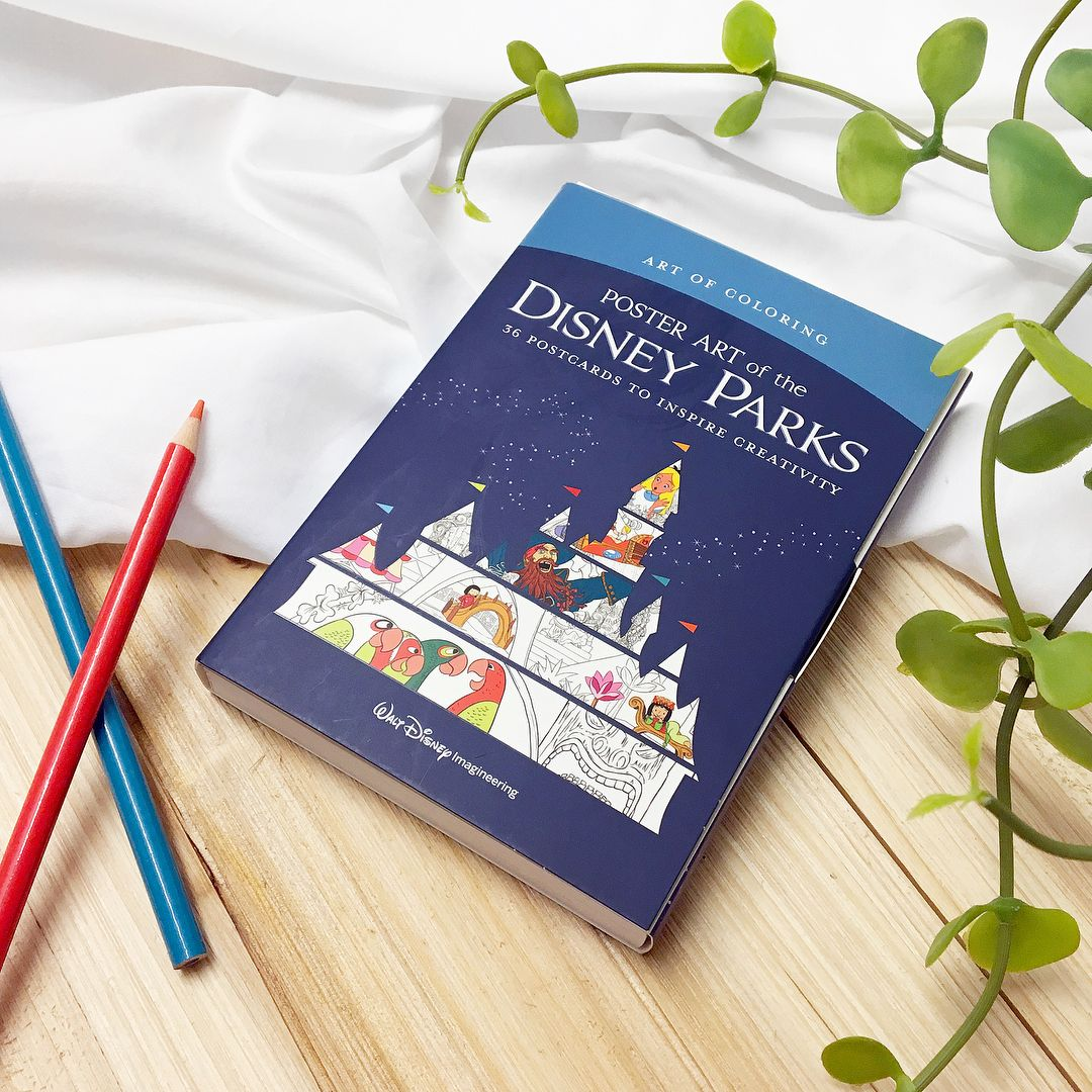 Disney Publishing Worldwide On Instagram Send A Magical Message With This Disney Parks Postcard Coloring Book Disney Parks Coloring Books Postcard