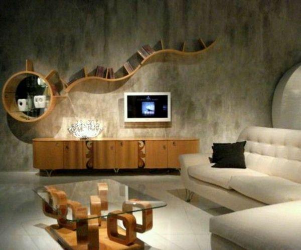 einrichtungsideen wohnzimmer deko an der wand holz Möbel bauen - wohnzimmer deko wand