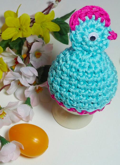 Hühnchen-Eierwärmer zum Häkeln - Anleitung via Makerist.de ...