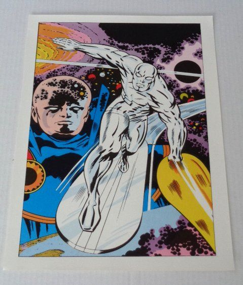 1970's Jack Kirby Marvel Comics Silver Surfer Fantastic Four 72 cover art poster