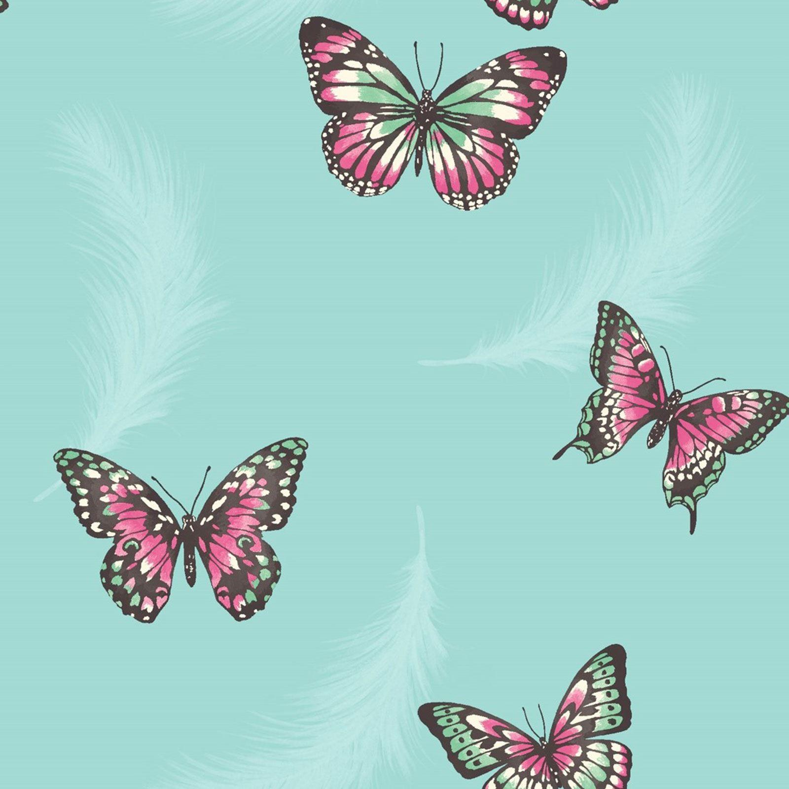 Best Details About Butterfly Wallpaper Girls Bedroom Decor Pink 640 x 480