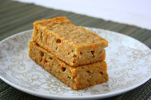 collecting memories: Banana Carrot Bars (Oil, Butter & Sugar Free) These look good :)