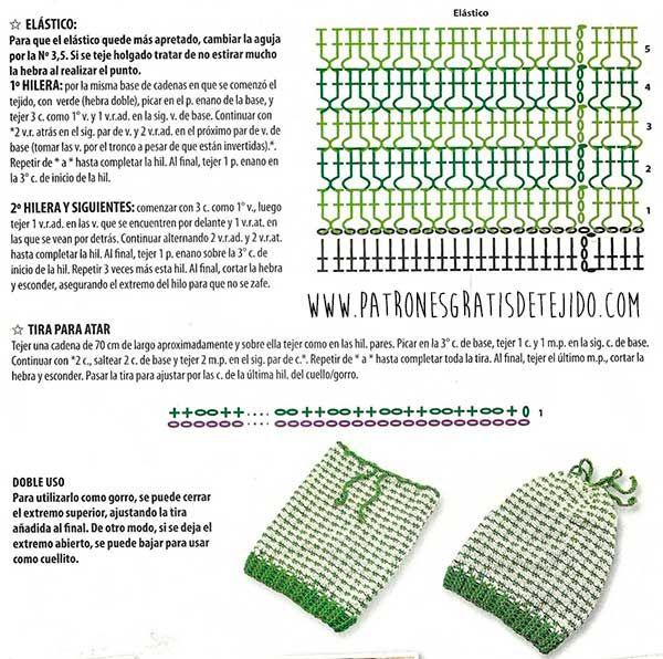 Todo crochet | Cuellos tejidos | Pinterest | Crochet, Crochet hats y ...
