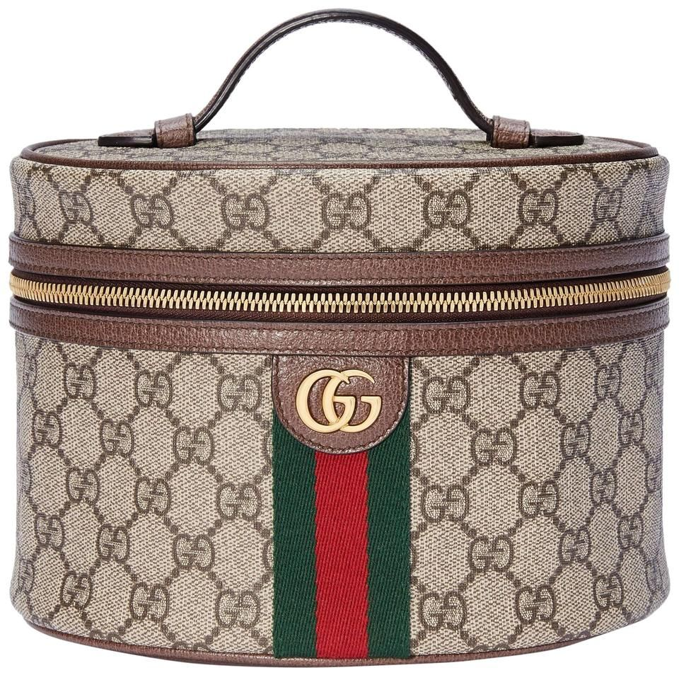 Photo of Gucci | Top Handle Cosmetic Case Ophidia Beige Gg Supreme Canvas Weekend