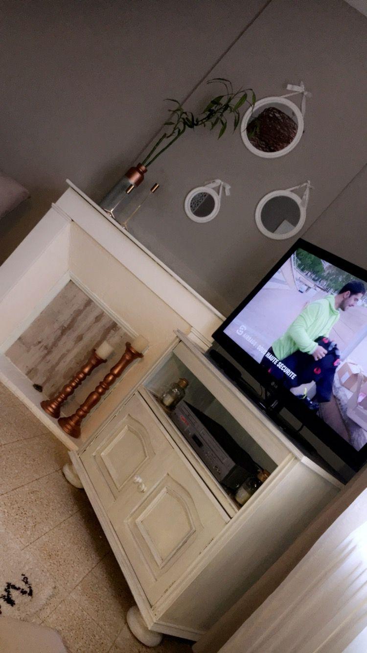 Deco Home R Novation Salon Scandinave Cocooning Enduit  # Dessin Meuble Tv Bois Pin Avec Le Vus