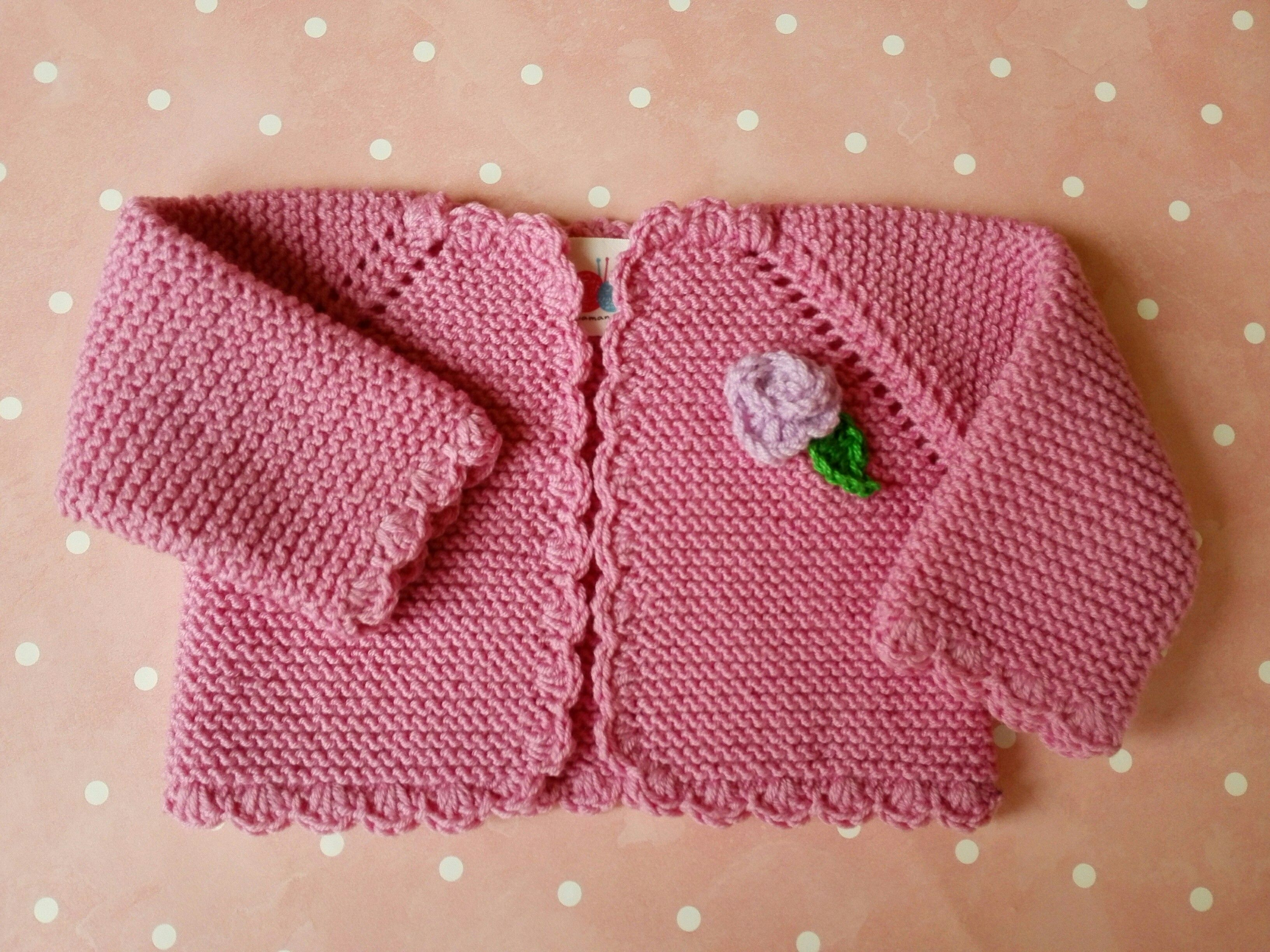 Comprar chaqueta beb de 0 a 3 meses de lana merino rosa chicle con un toque actual y divertido - Tejer chaqueta bebe 6 meses ...