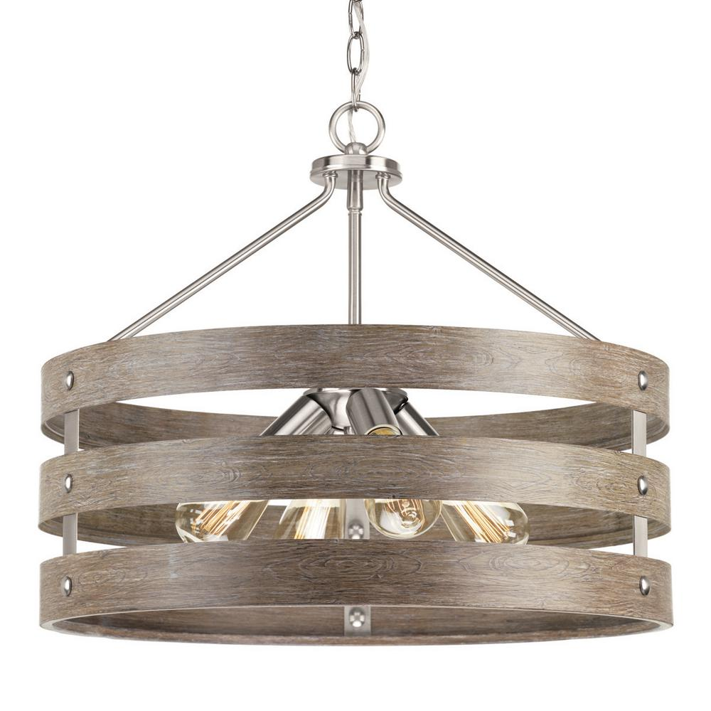 Brushed Nickel Pendant Light Home Depot