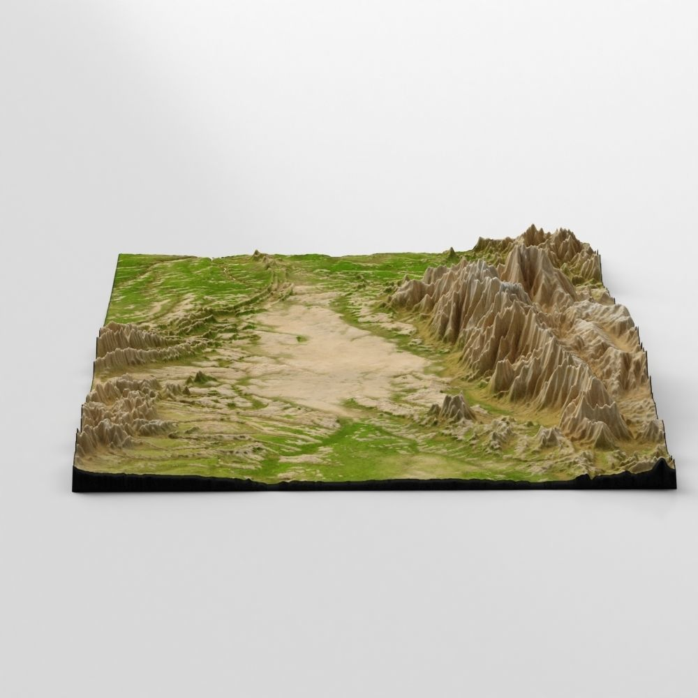 Wasteland Mountain Landscape 3d Model Con Imagenes