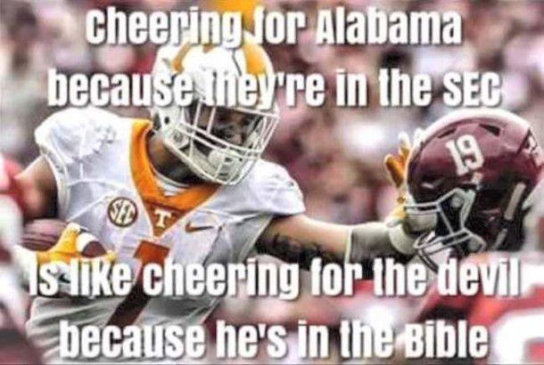 Best Alabama Football Memes From The 2015 Season Tennessee Football Auburn Tigers Football Alabama Football
