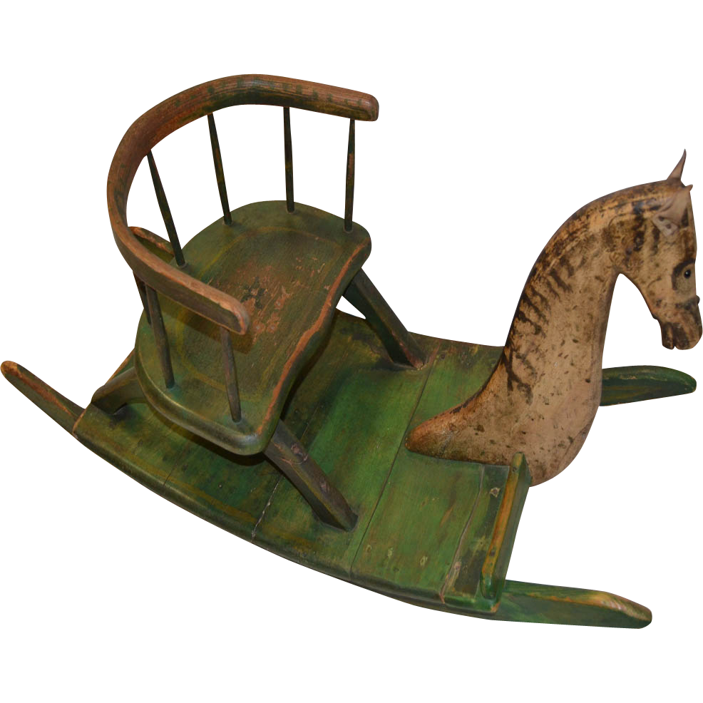Shoo-Fly Rocking Horse, Child\'s, Chair,19th C. | ANTIQUE TOYS ...