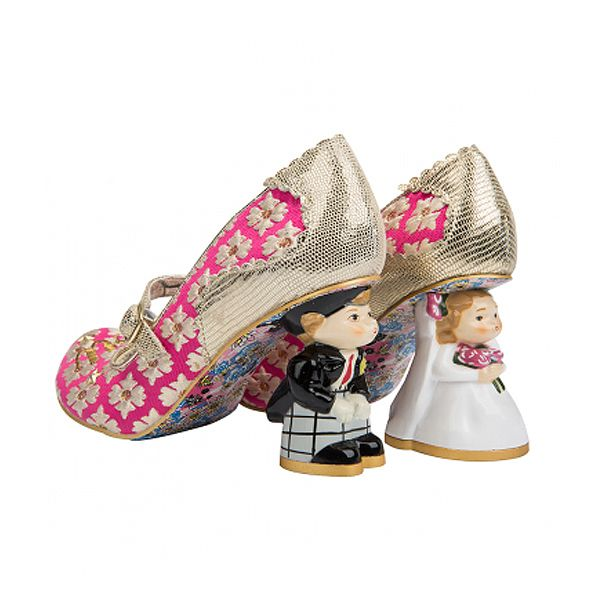 I Love You Pink And Gold Unique Wedding Shoes Irregular Choice
