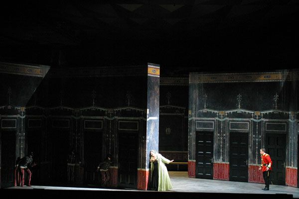 Agrippina. The Santa Fe Opera. Scenic design by Allen Moyer.