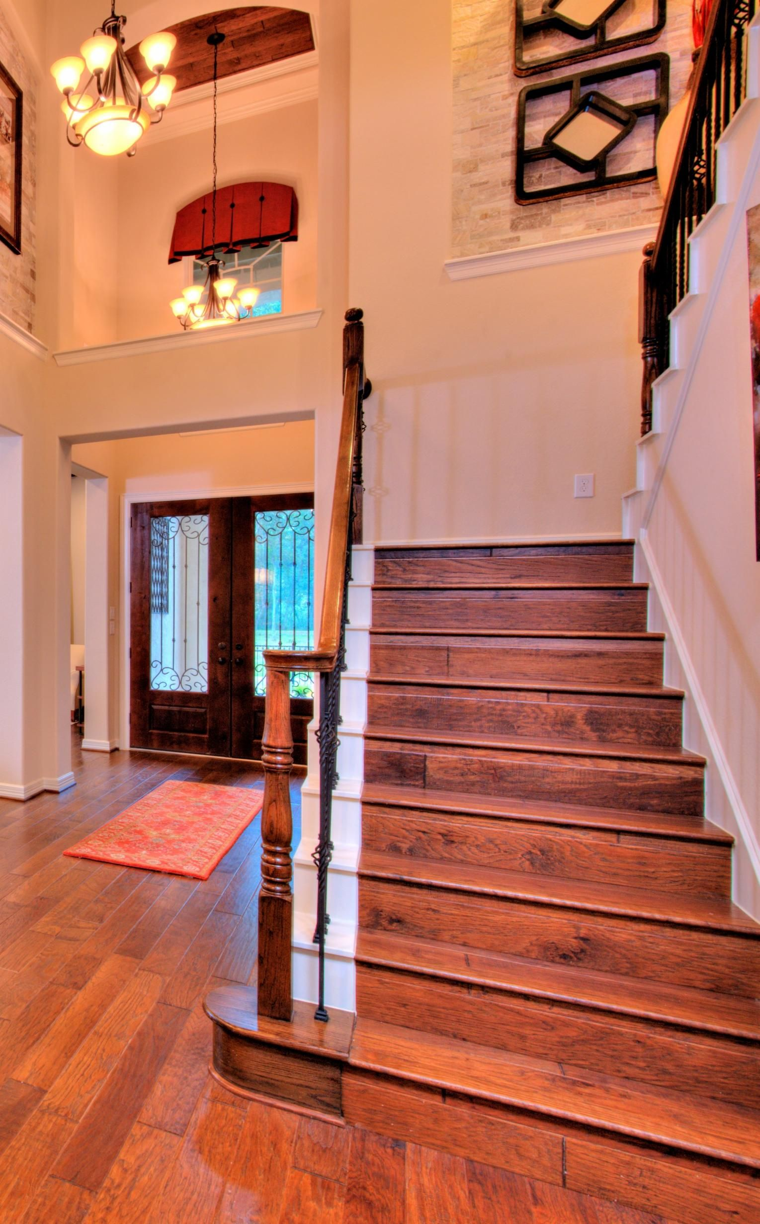Beautiful foyer and staircase new homes missouri city