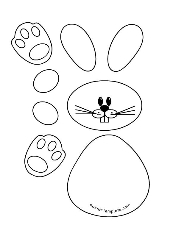 bunny-printable-template easter Pinterest Bunny, Template and