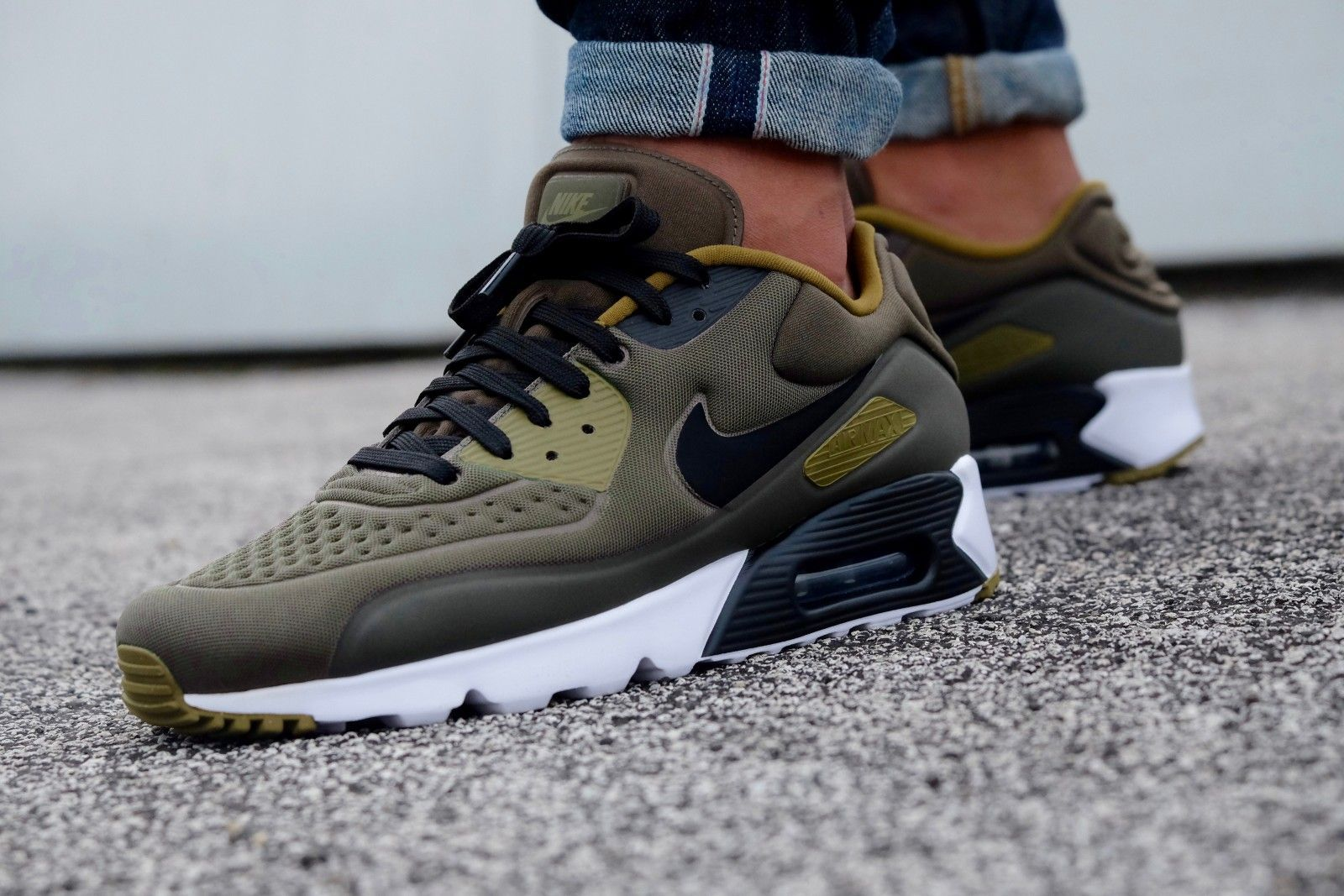best sneakers 524c7 83ba1 Nike Air Max 90 Ultra Special Edition Cargo Khaki Black-Olive Flak-White -  845039-300