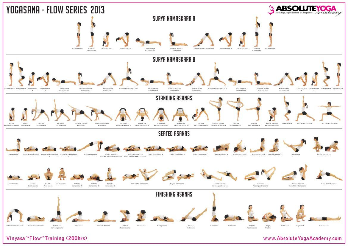 ABSOLUTE YOGA Vinyasa Course Pose Chart