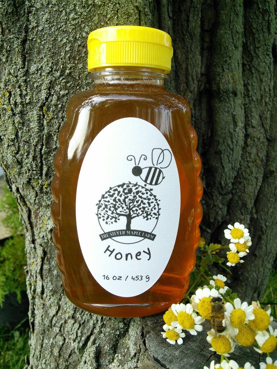 Young'un's first jar of honey. He's very excited to have it for sale at this Saturday's Chillicothe Farmers Market. Smiling & Waving, Sharon