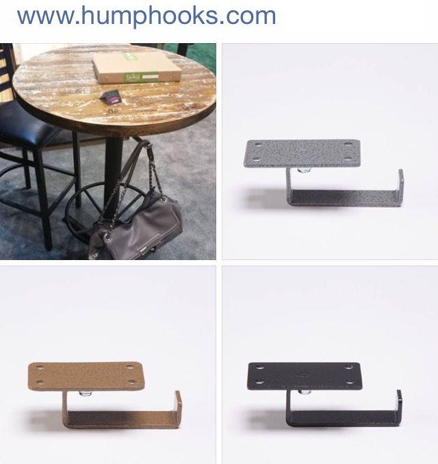 Desks Under Table Mounted Purse Hooks