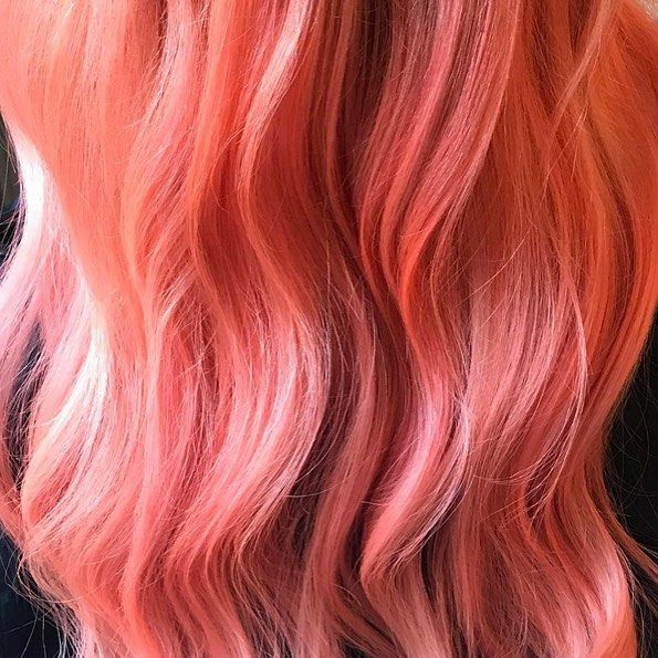 Neon Peach Hair Color Clean Vibrant Peach Semi Permanent Hair