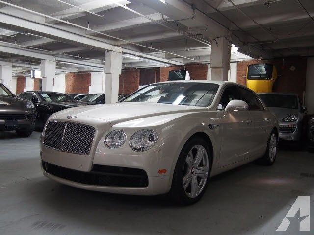 2015 Bentley Flying Spur V8 Finished In White Sand With A Beluga
