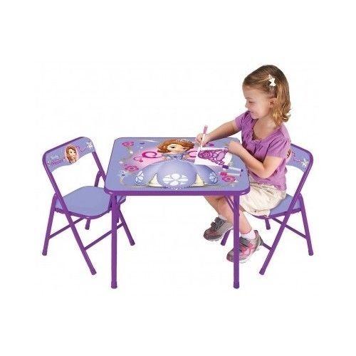 disney frozen sofia princess activity table chairs set kids