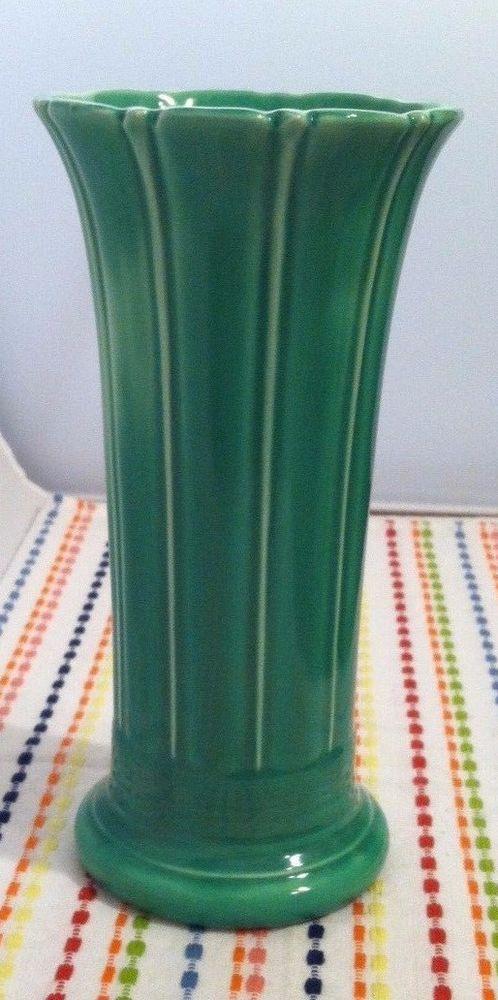 Vintage Fiesta Original Green 8 Vase Fiestaware Small Flared Flower