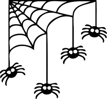Halloween Wall Stickers Spiders Web Corner Spooky Spider graphics decal