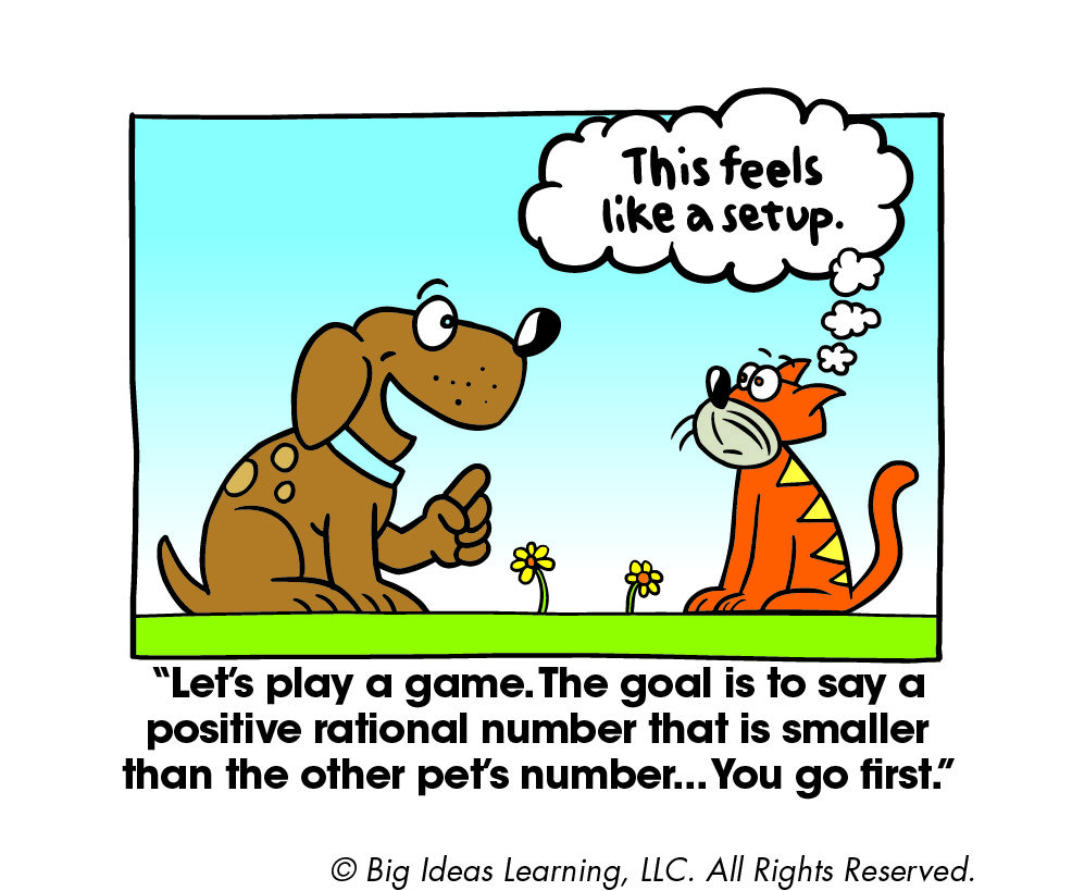 Comparing Rational Numbers | Big Ideas Math Cartoons | Pinterest ...