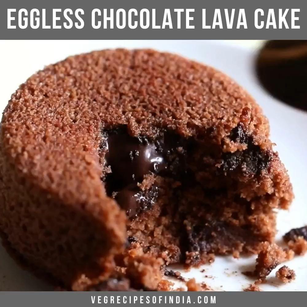 Eggless Chocolate Lava Cake