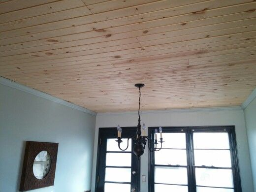 Crown Moulding With Wood Ceiling Wood Ceilings Living Dining Room Ceiling Lights