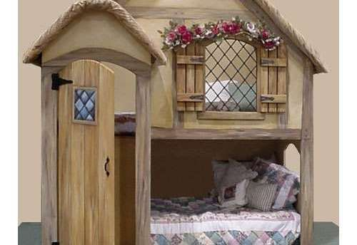 girls house bunk beds - Google Search