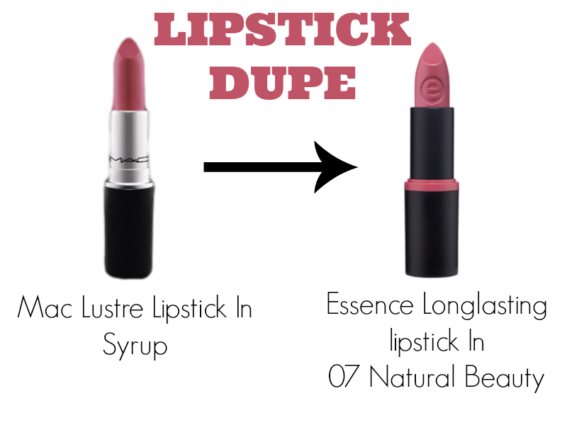 Essence longlasting lipstick in 07 natural beauty dupe for ...