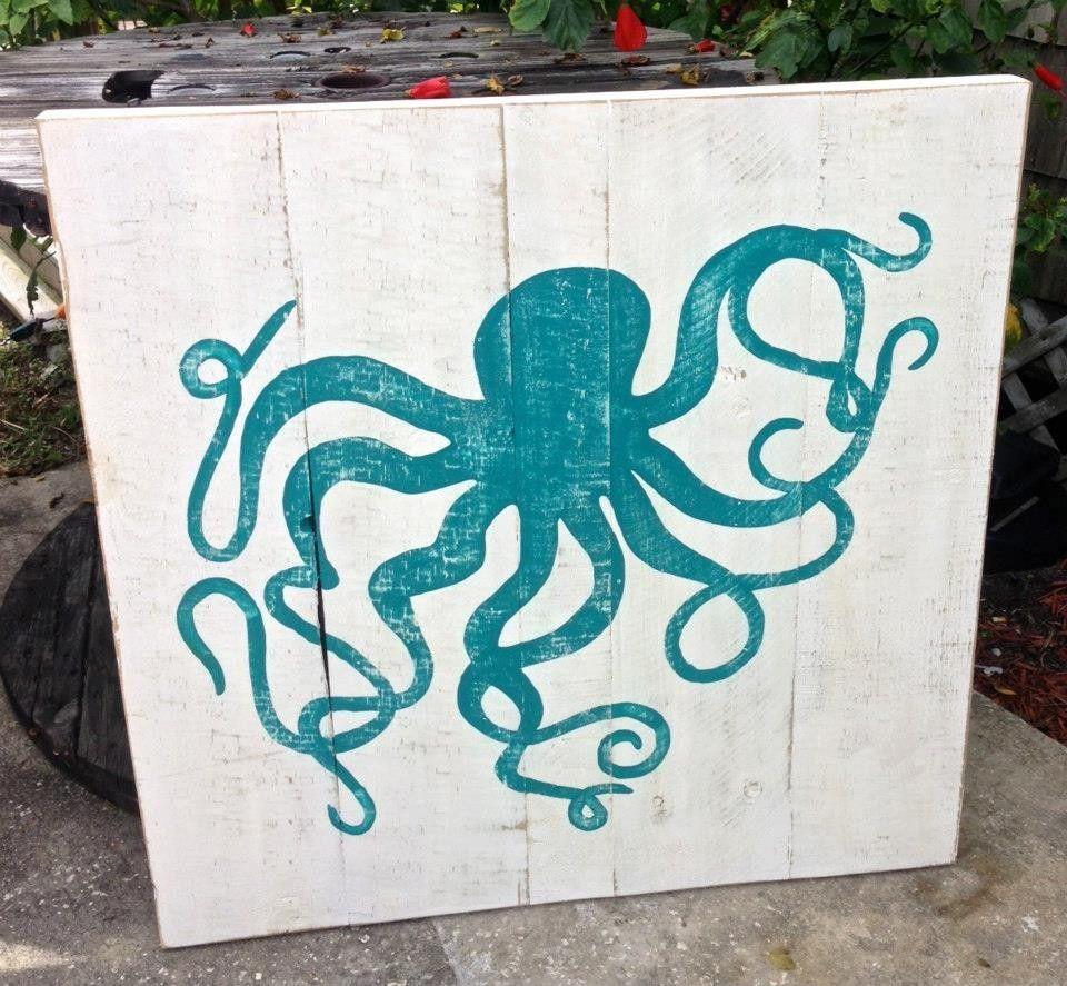 Octopus art   Wooden Octopus Wall Art   Alexis lelekis ...