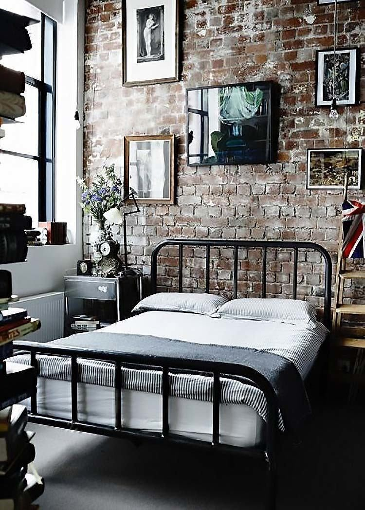 35 Edgy industrial style bedrooms creating a statement ...