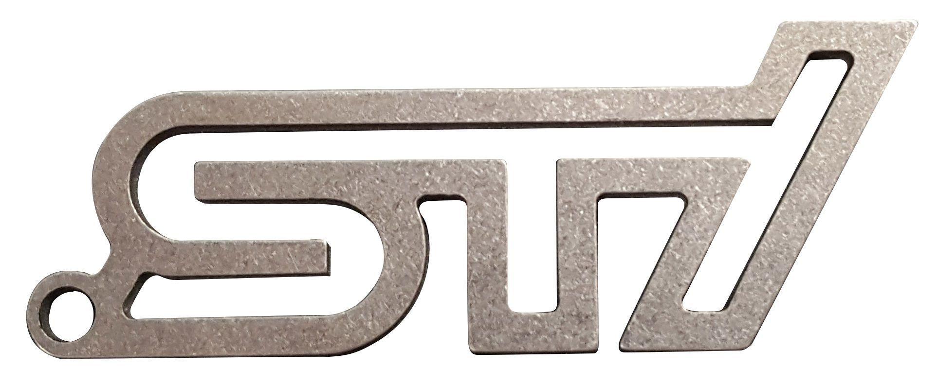 Stainless steel subaru sti key chain subaru stainless