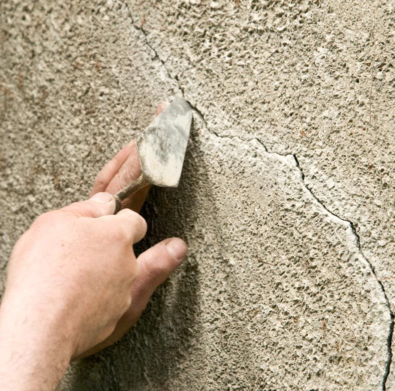 repairstuccocrackscleancrack For the Home Pinterest