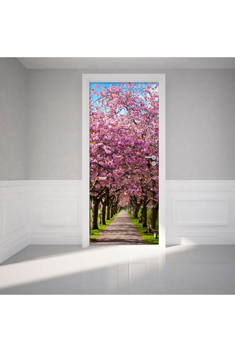 Venda Autocolantes / 24345 / Autocolantes de porta / Autocolante Ameixoeira em flor Rosa