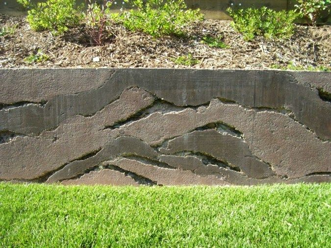 Layers Gray Ron Odell S Custom Concrete Woodland Hills Ca Concrete Retaining Walls Retaining Wall Garden Stepping Stones