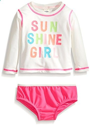 Osh Kosh Girls Long Sleeve Rash Guard Set