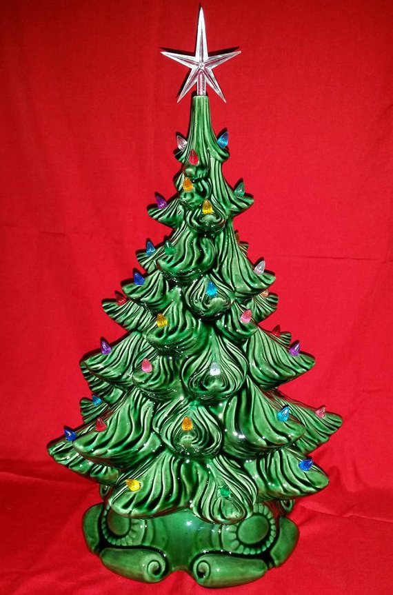 Ceramic Bisque Christmas Tree Kit Diy 20 Tall W Base Atlantic 14 Unpainted Ready To Paint Your Own Tree W Base Bulbs Star Light Kit Christmas Tree Kit Diy Kits