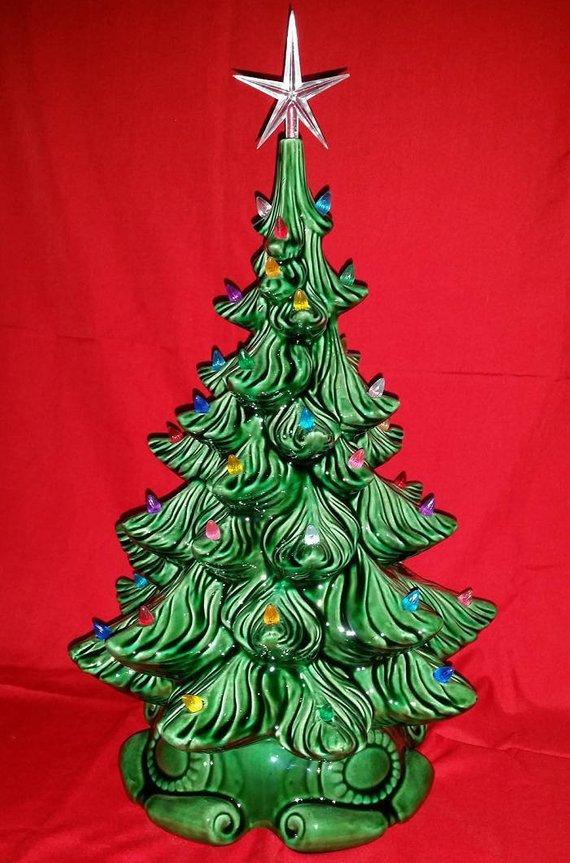 Ceramic Bisque Christmas Tree Kit Diy 20 Tall W Base Atlantic 14